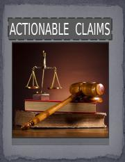 TRANSFER OF ACTIONABLE CLAIMS