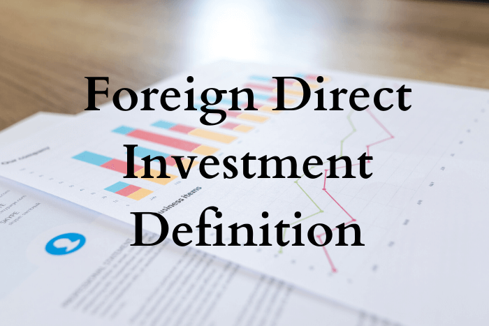 Foreign direct investment (FDI) in India.